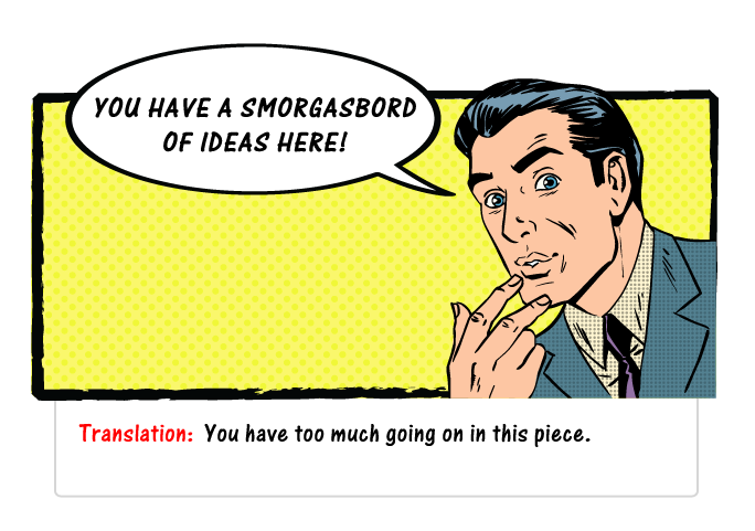 """Design Clients Say The Darndest Thing? featured image - """"you have a smorgasbord of ideas here"""""""