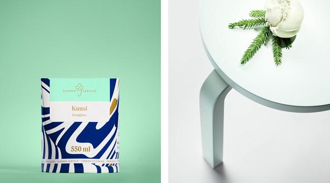 Gorgeous Print & Packaging Design Collection – March 2017 | Suomen Jäätelö jelato packaging