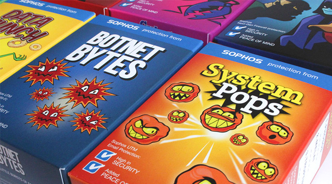 food packaging design companies featured image - sophos cerealbox design by Twogether.