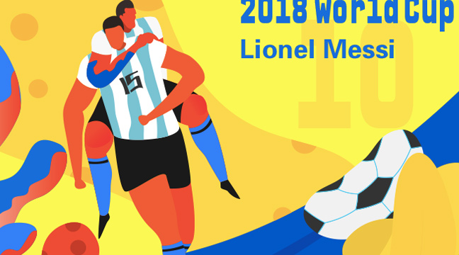 best digital art june 2018 featured image - 2018 world cup Messi by Monday