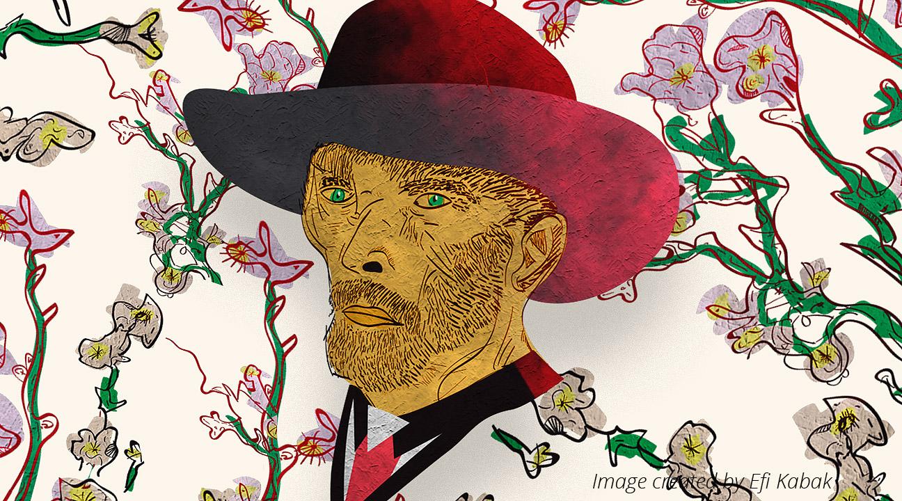 vincent van gogh digital illustrations by efi kabak