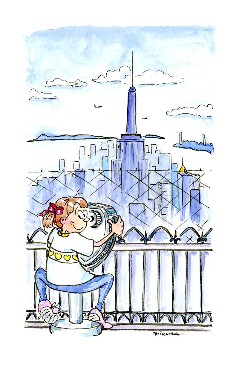 I Love NY drawings by Joana Miranda