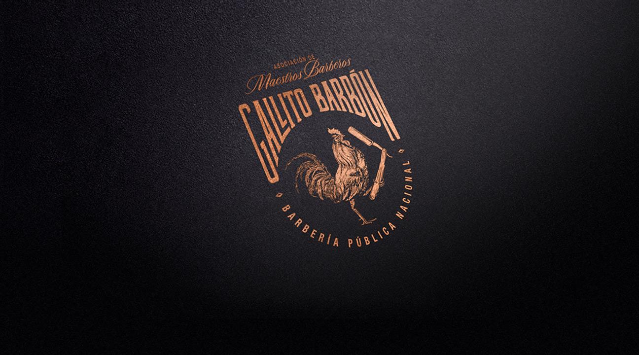 best logo design featured image - GALLITO BARBÓN by Henriquez Lara Estudio