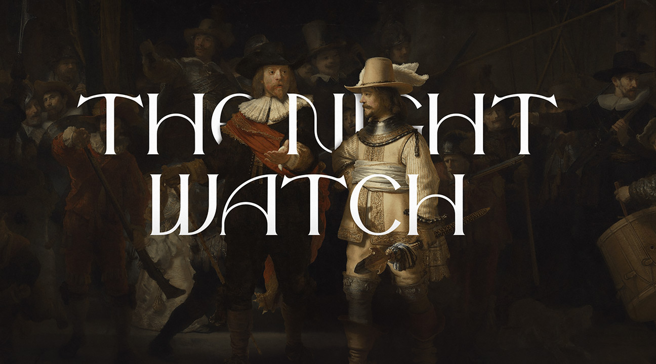 best typography designs 2021 featured image - the night watch free font