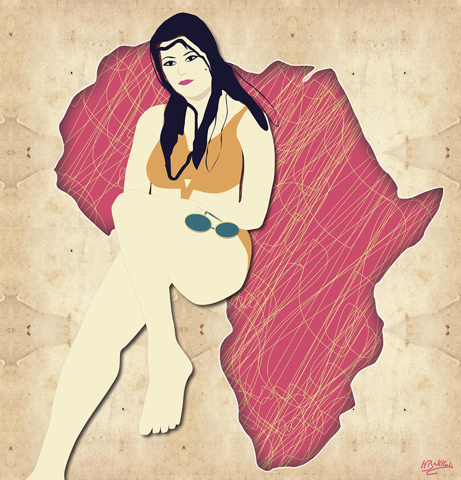 Serenity digital illustration by Houda Bakkali