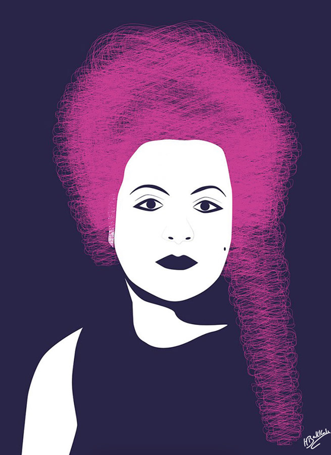 Transgression - digital illustration of a woman by Houda Bakkali
