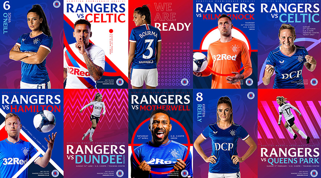 best logo design 2021 featured image - Rangers F.C. Brand Evolution by See Saw Creative Lynsey Campbell