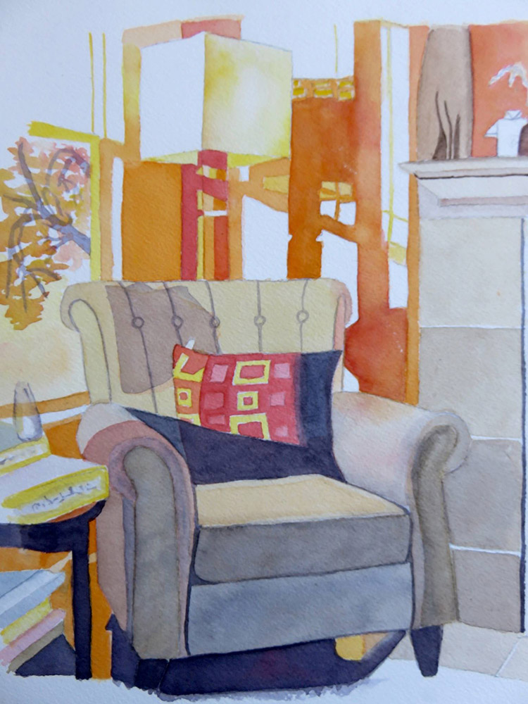 Favourite Chair painting by Emily Jones