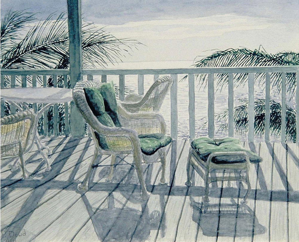Winter-Morning, Grassy Key painting by Peter Dowd