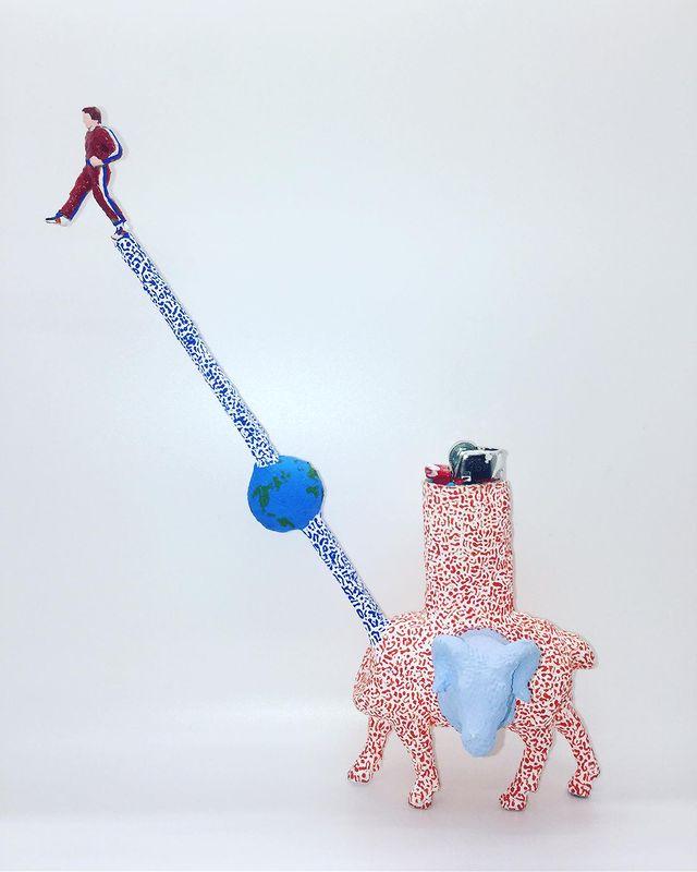 One More Step Lighter sculpted art lighter by Christina Kenton