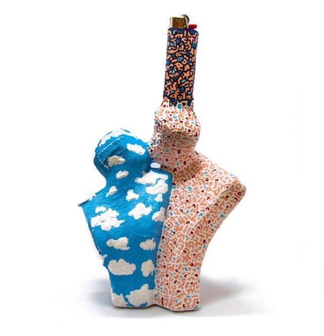 The Kiss Lighter sculpted art lighter by Christina Kenton