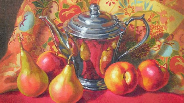 art inspiration july 2021 featured image -Deco Teapot and Kimono Fiona Craig Fine Art