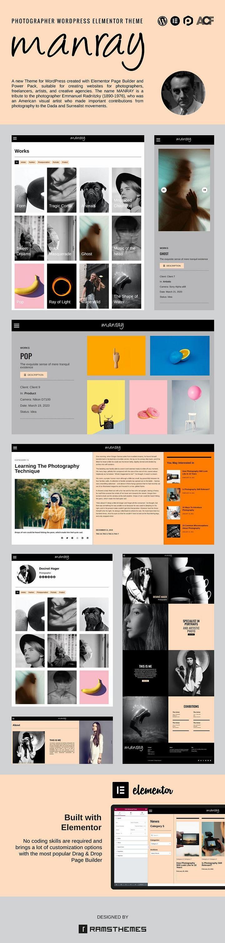 MANRAY WordPress theme