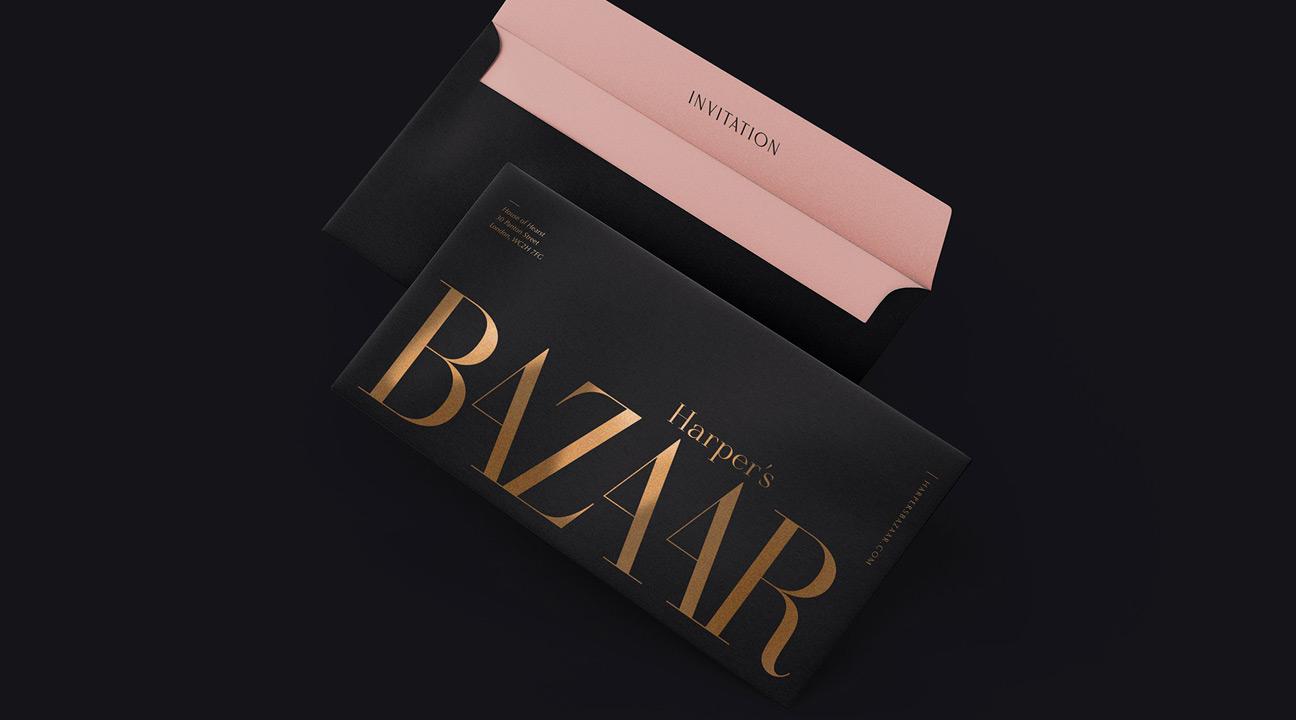 logo design inspiration october 2021 featured image - Harper's Bazaar rebranding concept by kissmiklos